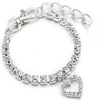 wholesale, luxury sparkling crystal necklace dog collar fashi...