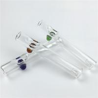 pipes pipes en verre tabac d'herbes 4,5 pouces avec couleur poignée tube de verre pyrex épaisse pour fumer livraison gratuite