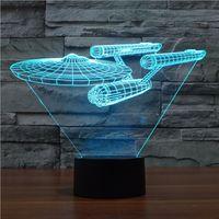 Novelty 3D Star Trek Decor Bulbing Night Light Lamp Gadget L...