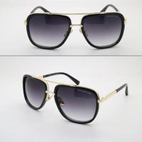 Atacado Vogue Vintage unisex DITA MACH ONE óculos de sol MenWomen Marca Designer Square Gold Frame Dita óculos de sol Eyewear com caso