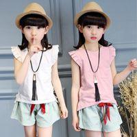 2016 summer style girl clothes fashion sleeveless T- shirt + ...