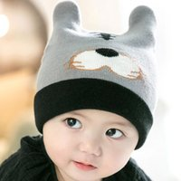 2016 Winter crochet Cotton knitted baby infant ear caps hat ...