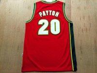 #20 Gary Payton Stitched Red Sonics Jersey Seattle SuperSoni...