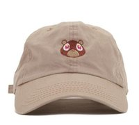 American Casquette Kanye West Ye Bear Dad Hat Novo EXCLUSIVE Release Limited Unisex Tan Limited cap Rare Eu sinto como Pablo chapéus chapeus Yeezus