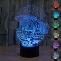 New Colourful USB Mario 3D Table Lamp Luminaria Led Night Li...