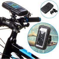 Soporte impermeable de la bicicleta de la motocicleta del montaje de la bici del caso con el bolso del teléfono móvil para el paquete al por menor libre del iPhone 6 DHL