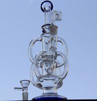 Illadelph boutique Newes bong pipe d'eau Cyclone Helix bongs Un tel double complexe Recycler verre bongs hélice perc bong gréement de pétrole bouleuse de verre