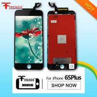 Noir Blanc Pour iPhone 6S Plus Moniteur LCD Moniteur de 5,5 pouces avec écran tactile Digitizer 3D Touch Replacement Livraison gratuite 100% testé