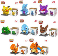 Cartoon Poke Building Blocks LOZ Pocket Monster Charmander B...