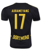 2016 new men 17 AUBAMEYANG Away Soccer Jerseys, 10 M. GOTZE 2...