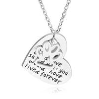 Si l'amour aurait pu vous sauver, vous auriez vécu pour toujours New Fine Silver Dog Paw Print Heart Pendentif Colliers Pet Animal Souvenir