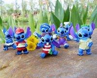 8pcs Lilo & Stitch 6cm Blue PVC Anime Cartoon Action Figure ...