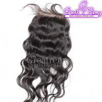 Brazilian Remi Human Hair Natural Wave Lace Frontal Closure ...