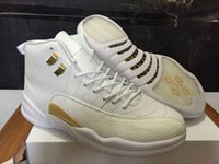 With Box Air dan OVO White 12 Mens Basketball Shoes J 12 Flu...