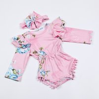 INS 2piece set outfits Baby girls rose floral romper onesies...