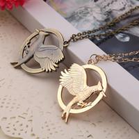 The Hunger Games Colliers Inspiré Mockingjay Mocking Pendentif Collier, Authentique Prop imitation Zinc Alliage Bijoux Katniss Movie En Stock