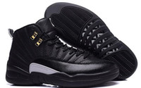 Wholesale RETRO+ 12s XII THE MASTER BLACK GOLD Basketball Sh...