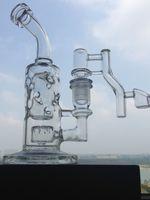 Verre Bongs 14.4mm recycleur joint Oil Rigs avec quartz verre banger bong conduites d'eau en verre