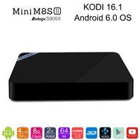 2GB 8GB Mini M8S+ Plus Amlogic S905X Android6. 0 TV Box Quad ...