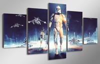 Свободная перевозка груза 5 панель HD Printed Звездные войны Картина на холсте украшения комнаты печать постер картины холст
