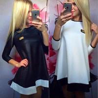 2016 New Fashion Vestidos Women Casual Dresses Loose Spaid P...