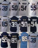 Women Ladies Football Stitched Chargers #39 Woodhead #50 TE&...