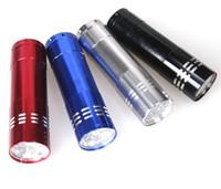 Portable 9 CREE LED UV lumière argent Détection alliage lampe de poche Randonnée Torchlight Aluminium LED UV Lampe avec la boîte