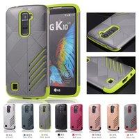 Для LG K10 Броня Защитный чехол K7 Полное тело Ультра тонкие гибридные жесткие Shell Двойные Слои противоударный Slim Fit жесткий задняя крышка
