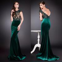 Illusion Mermaid Biensavvy Evening Dresses Backless Lace App...