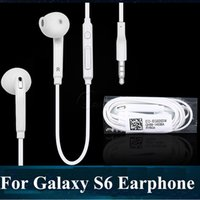 For S6 S6 EDGE Earbuds Headset Integrated Microphone Stereo ...