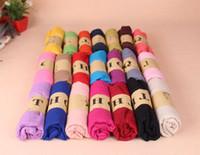 Cheap 18 Colors Solid Pashmina Linen Scarves Pretty Women&#0...