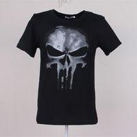 Cool Style THE PUNISHER Skull T Shirt The Punisher Black Sho...
