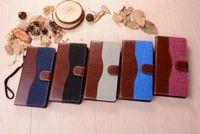 Pour SONY Xperia X / XP s6 / s7edge iphone 5s 6s plus se case jean étui en cuir cowboy design Portefeuille pour LGG4 / G5