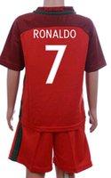 2016 Portugal Kids kit Soccer Jersey Cristiano Ronaldo Footb...