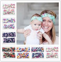 6 Color Princess Girls & Mommy Baby Flora Print Bowknot Head...