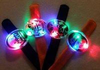LED Bracelets Boy And Girl Slap Snap Bracelets Hallowmas Gif...
