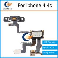 Pour iphone 4 4s Power On Off Mute Volume Boutons Bouton d'alimentation Câbles Flex Ribbon iphone rechange Pièces de rechange