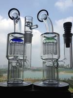 bongs classique en verre de toro de conduites d'eau 20 bras perc bong barboteur 5MM verre épais de plates-formes pétrolières femme 18.8mm joint