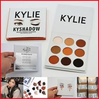 В НАЛИЧИИ Кайли Cosmetics бронзовому Eyeshadow Jenner Kyshadow Kit пудра Palette Бронзовый Long asting Matte Eyeshadow 9 цветов шт