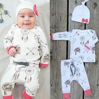 2016 hot sale baby suits Dreamcatcher logo printed children ...
