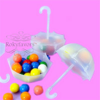 FREE SHIPPING+ 10pcs lot Umbrella Candy Boxes Baby Shower Bir...