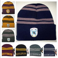 Harry Potter Beanie Ravenclaw Gryffindor Caps Slytherin Huff...