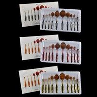 10Pcs Make Up Oval make Brush Set Pro Beauty Toothbrush Shap...