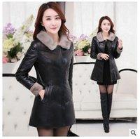2016 Women Plus Size Faux Fur Coat Fashion Long Mink Fur Col...