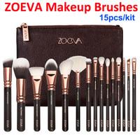 Новый ZOEVA Rose Golden 15 шт Роскошный макияж кисти комплект + щетка сцепления сумка Пудра кисть кисти лица и глаз комплект Blush Brush