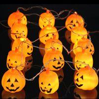 Halloween 5M 20 LED Pumpkin LED String Light AC220V Orange P...