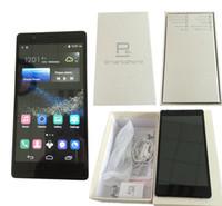 Huawei P8 плюс клон телефон Android 6.0 дюйма MTK6572 Двухъядерный смартфон сотовые телефоны Dual Sim 512 RAM 4GB ROM шоу 32GB Поддельные WIFI 4G LTE