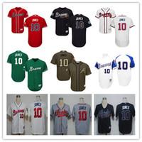 2016White 1974 Throwback 10 Chipper Jones Baseball Jerseys 5...