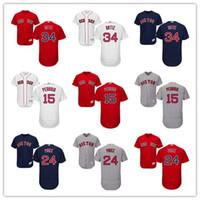 Wholesale Boston Red Sox 15 Dustin Pedroia 24 David Price 34...