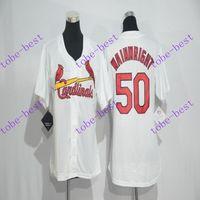St. Louis Cardinals #50 Adam Wainwright White #2016 Baseball...